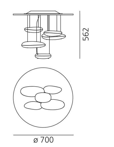 artemide - mercury mini soffitto led 3000k