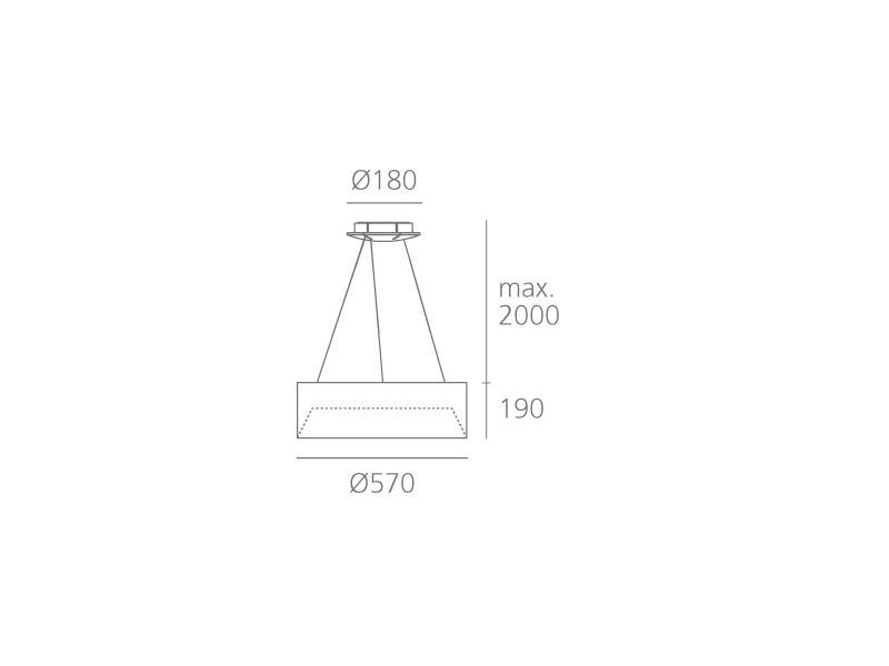 artemide tagora suspension 570 direct indirect emission led 46w 4000k dali switchdim. Black Bedroom Furniture Sets. Home Design Ideas