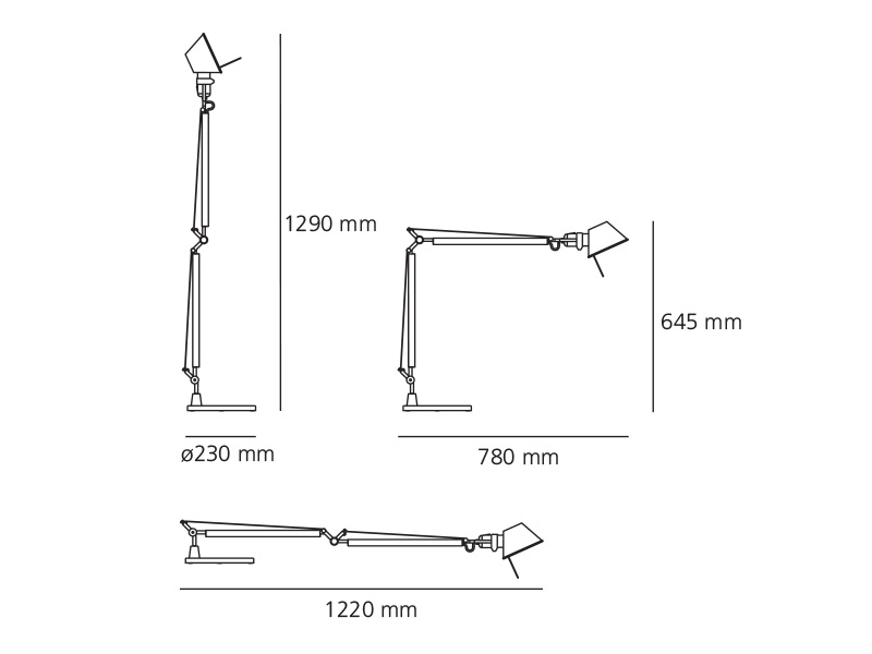 artemide tolomeo tavolo. Black Bedroom Furniture Sets. Home Design Ideas